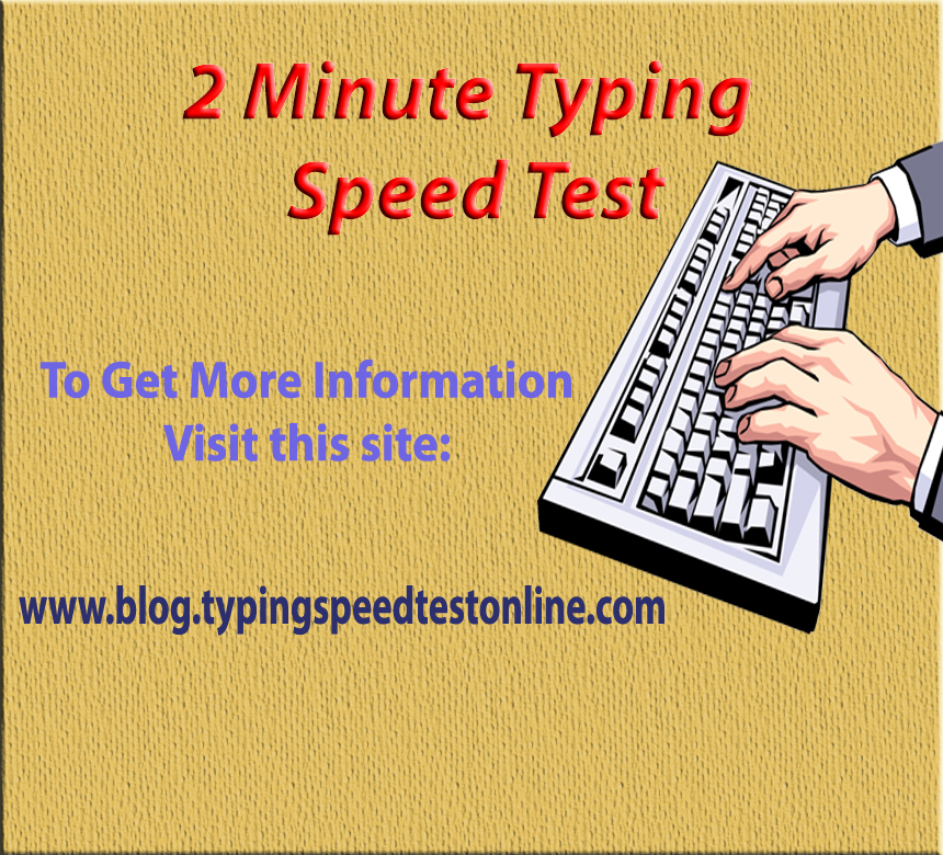 2 Minute Typing Test