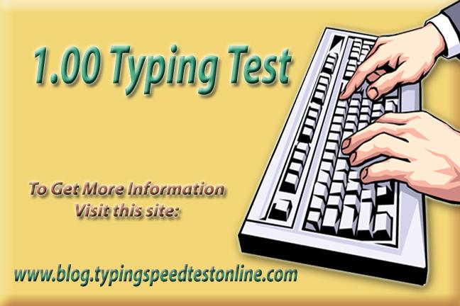 1.00 Typing Test