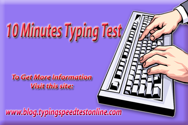 10 Minutes Typing Test