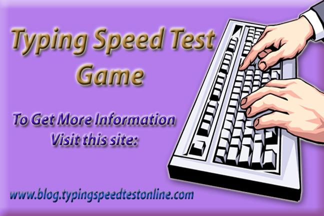 Typing test speed game