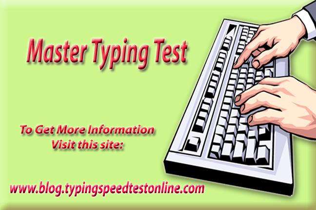 Master Typing Test