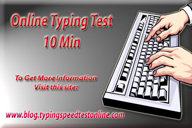 Online Typing Test 10 Min