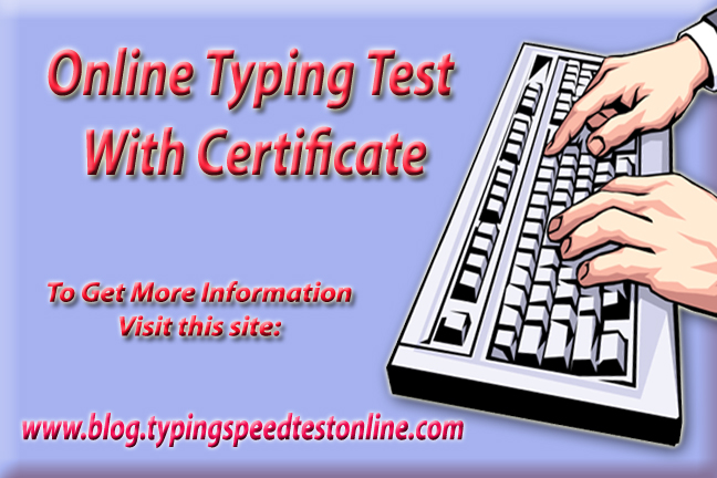 Online Typing Test With Certificate